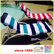 Cotton terry Fitted Lounge Chair Cover beach towel with elastic home textile