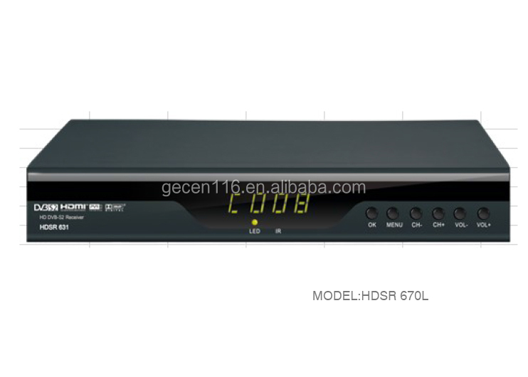 High Quality Digital Video Broadcasting Full HD DVB-S2 Satellite TV Receiver