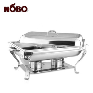 Wholesale Elegant Royal Catering Serving Buffet Food Warmer Stainless Steel Hotel Used Chafing Dish for Sale
