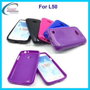 China wholesale soft gel tpu case for LG L50,plain back cover tpu case for LG L50