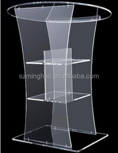 Customized clear acrylic lucite lectern