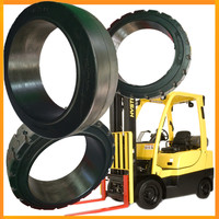 hyster forklift parts 22X9X16 18x8x12 1/8 press-on tire for S80FT BCS 3.6ton