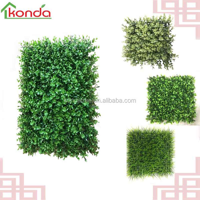 Evergreen Artificial Plant Wall Plastic Living Wall, Fake Box Hedge Wall  Decor For Garden/