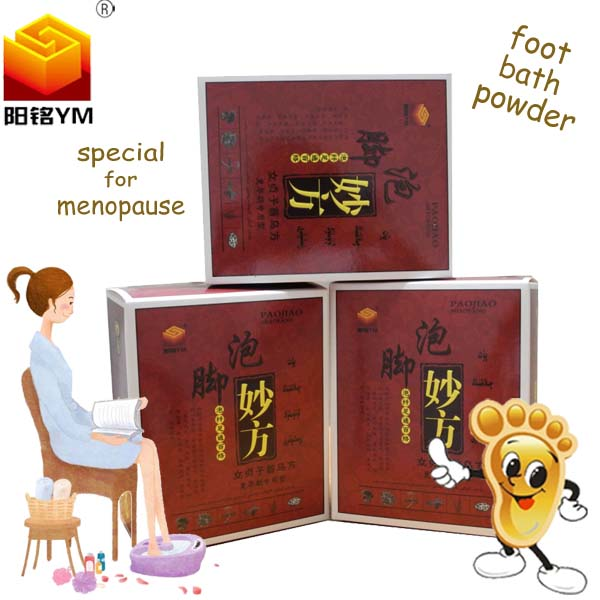 OEM Best selling Chinese natural herbs foot bath powder for menopause,elderly health care