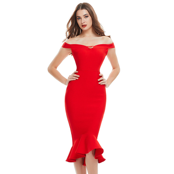 Romance High Waist Back Zipper Evening Women Fashion Bandage Dress Online Shopping
