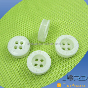 Best selling hight quality custom 3 Layers Covered White Laser Engraved Resin Shirt Buttons