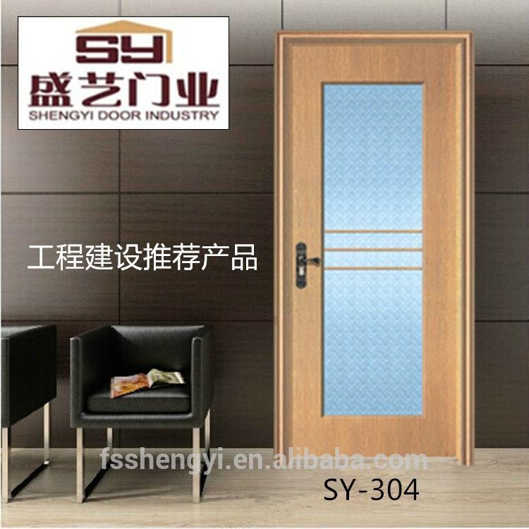 Interior de vidrio puerta de madera mdf puertas for Puertas de madera con vidrio para exterior