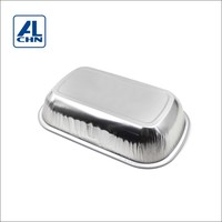 ALCHN 320ML Disposable To Go Hot Sealing Most Popular Airline Use China Supplier Food Aluminum Foil Container
