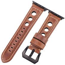 Ремешки для наручных часов из натуральной кожи для Apple Watch Band 42 мм 38 мм женские и мужские аксессуары для часов Ремешок для Iwach 44 мм 40 мм серия 5 4...(Китай)