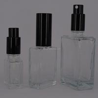 30ml rectangular glass empty perfume spray bottle for essential oils glass dropper bottle