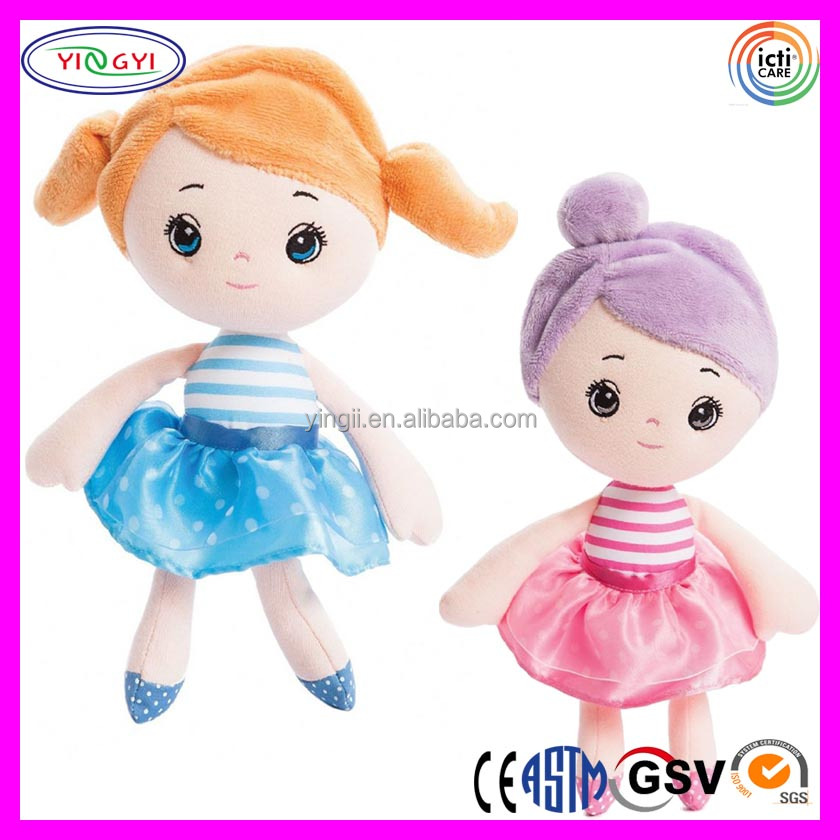 A742 Cute Dancing Girl Faking Doll Soft Stuffed Plush Skirt Doll Faking