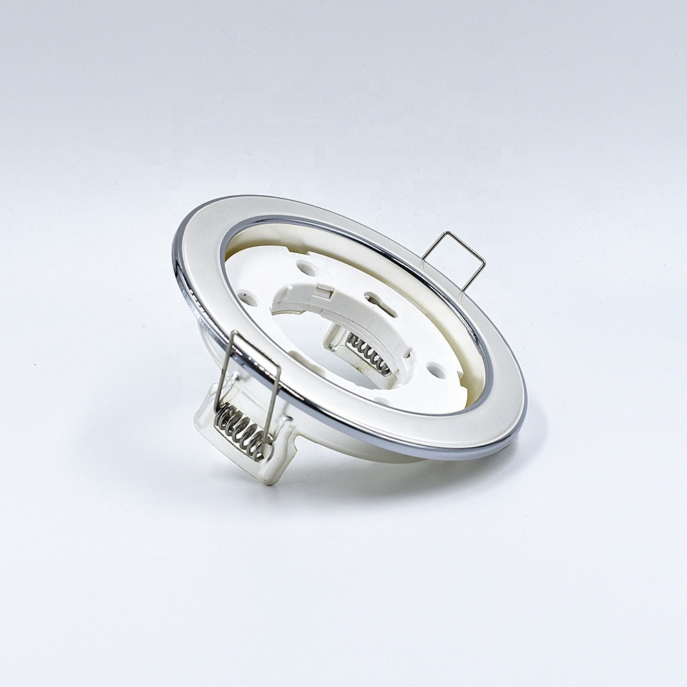 China hot selling GX53 spot light housing chrome downlight fixture die cast led housing