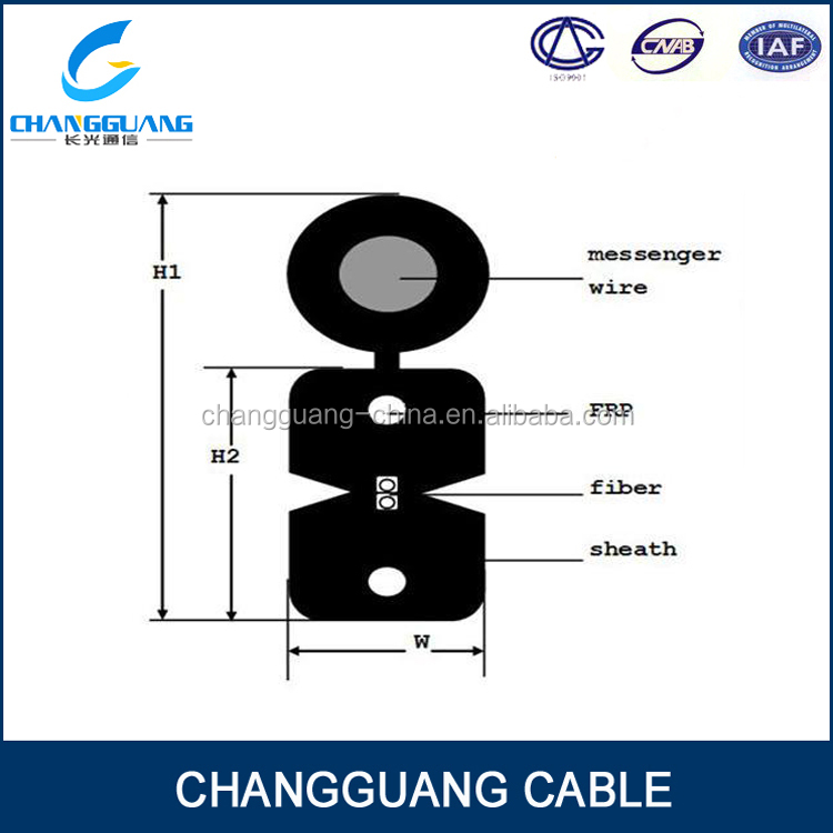 for access network FTTH drop fiber optical cable price list