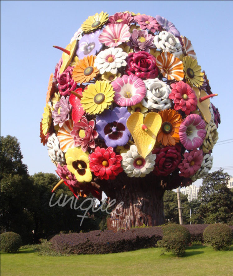 Metal Flower Sculpture, Metal Flower Sculpture Suppliers And Manufacturers  At Alibaba.com