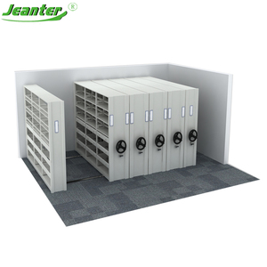 High density heavy duty Compact Archives Rack Manual Mobile Filing Shelving Storage System