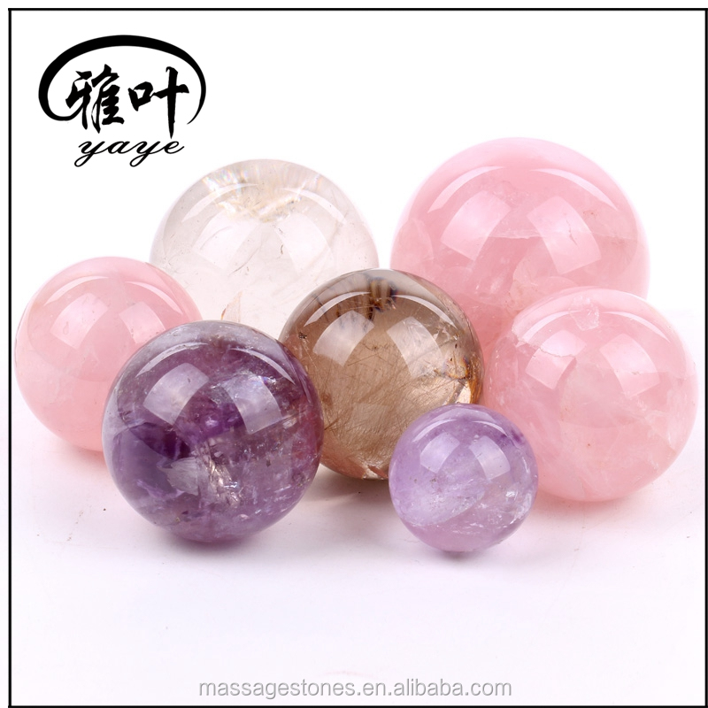 Natural Crystal Stones Round Spheres Ballset for Wedding Sourveirs