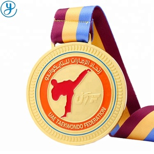 OEM support gold sports competitions awards taekwondo medal