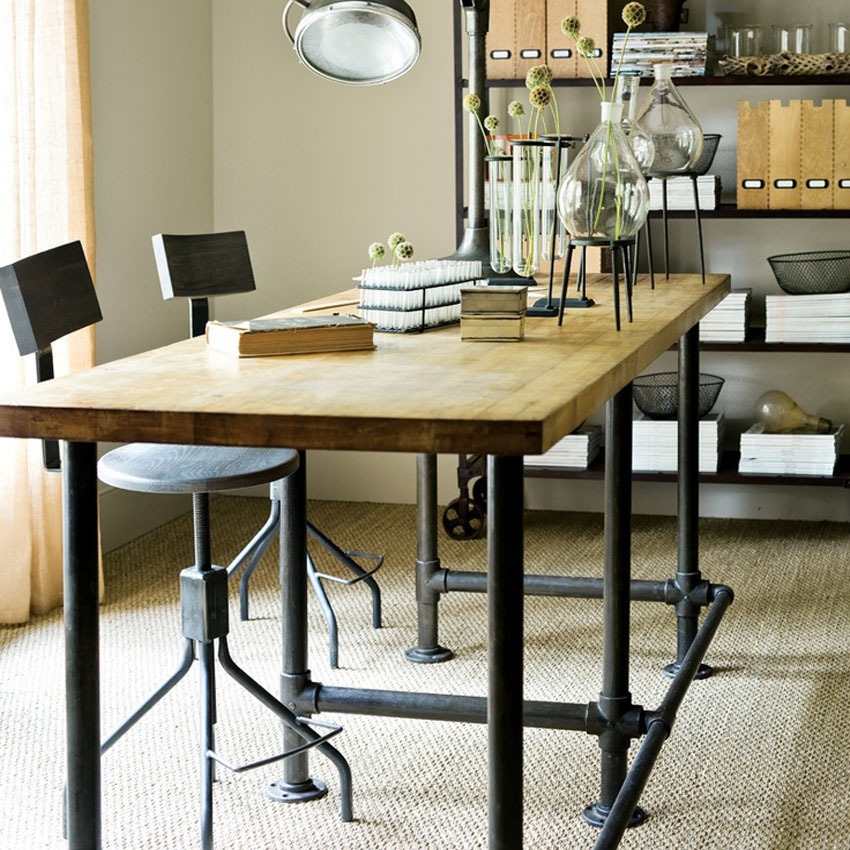 Office Kitchen Tables: LOFT American Country Wrought Iron Coffee Tables Bar