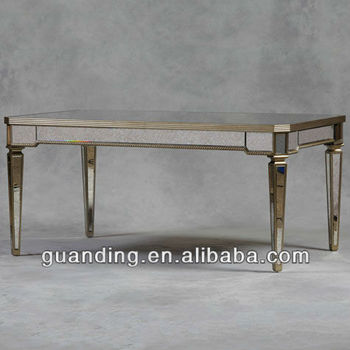 Antique Mirrored Glass Dining Table Buy Glass Mirror Bedside