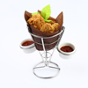 Metal French Fries Holder With 2 Sauce Cup F0065