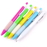 5 colors plastic good quality ballpoint pen