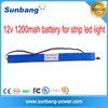 high capacity 1200mah 12v flat lithium small rechargeable battery for led light