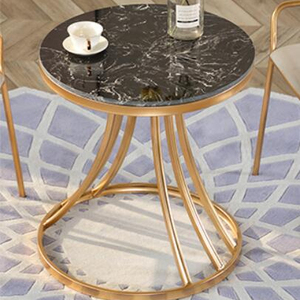Cheap round black marble top Modern side tables for sale