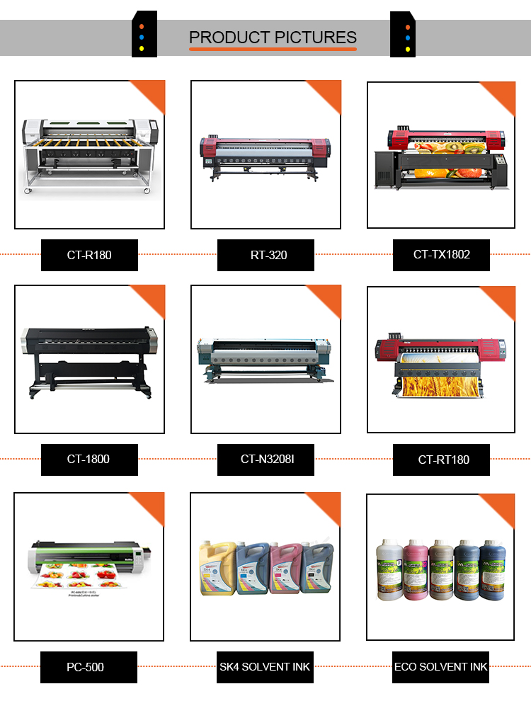 Environmental colorful 3.2 meters konica 512i solvent printer