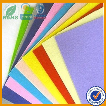 Synthetic felt material