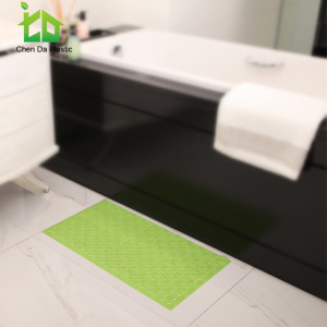 2017 new arrival color PVC anti slip bath tub mat rubber floor mat