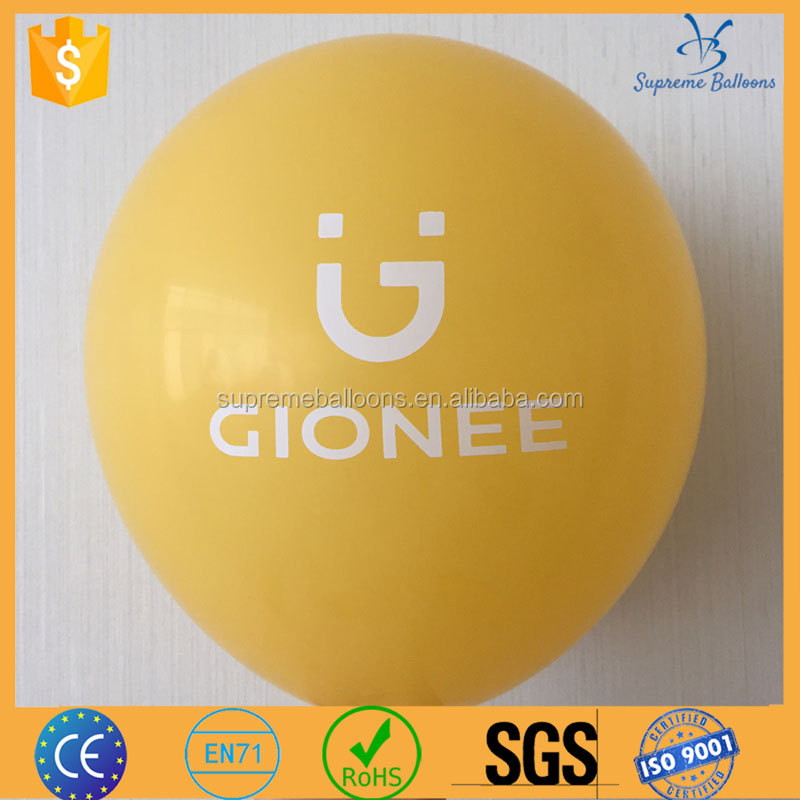 event decoration silk screen printing balloon with colorful logo