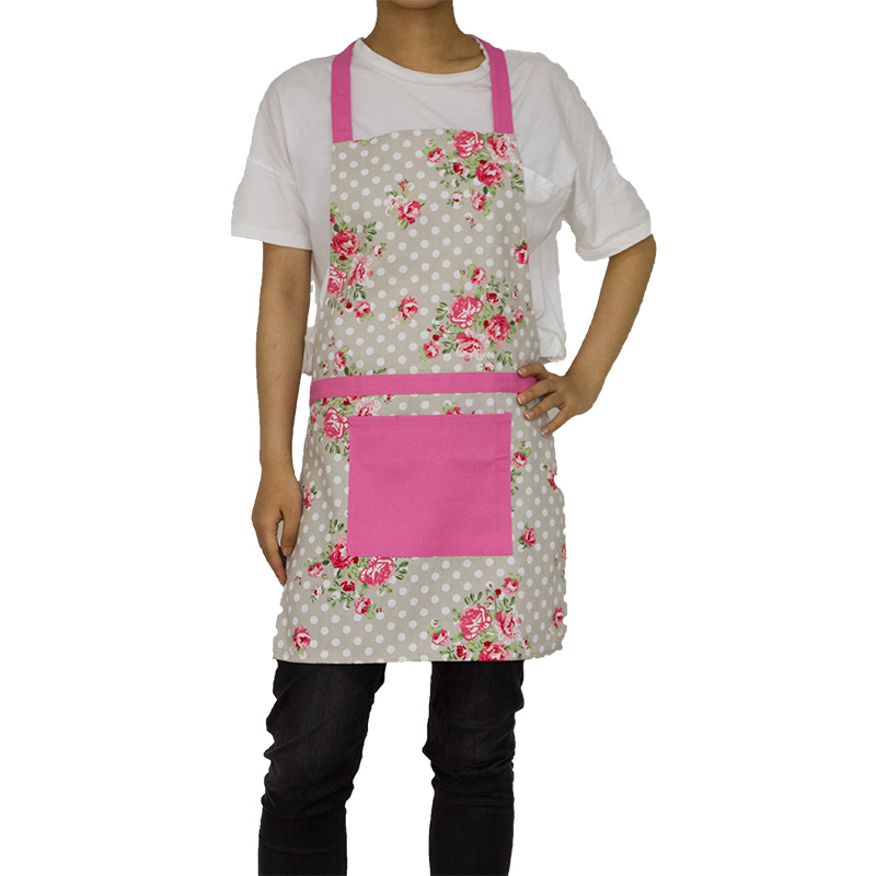 China poly cotton kitchen floral girl apron