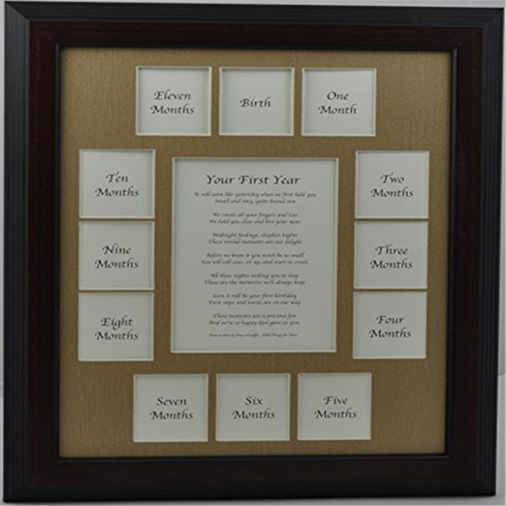 School years or First year Multi 13 opening Collage picture frame