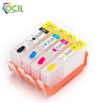 Ocbestjet 4 Color For Hp364 Ink Printer Ink Cartridges 364 Ink Refill Kit  Used For Photosmart 5510 5511 5512 5514 5515 5520 5522 - Buy 364 Ink