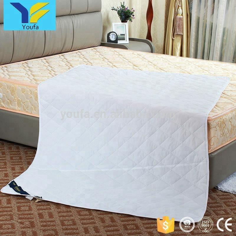 China suppliers 180*200cm white hotel mattress protector hypoallergenic mattress cover waterproof mattress protector