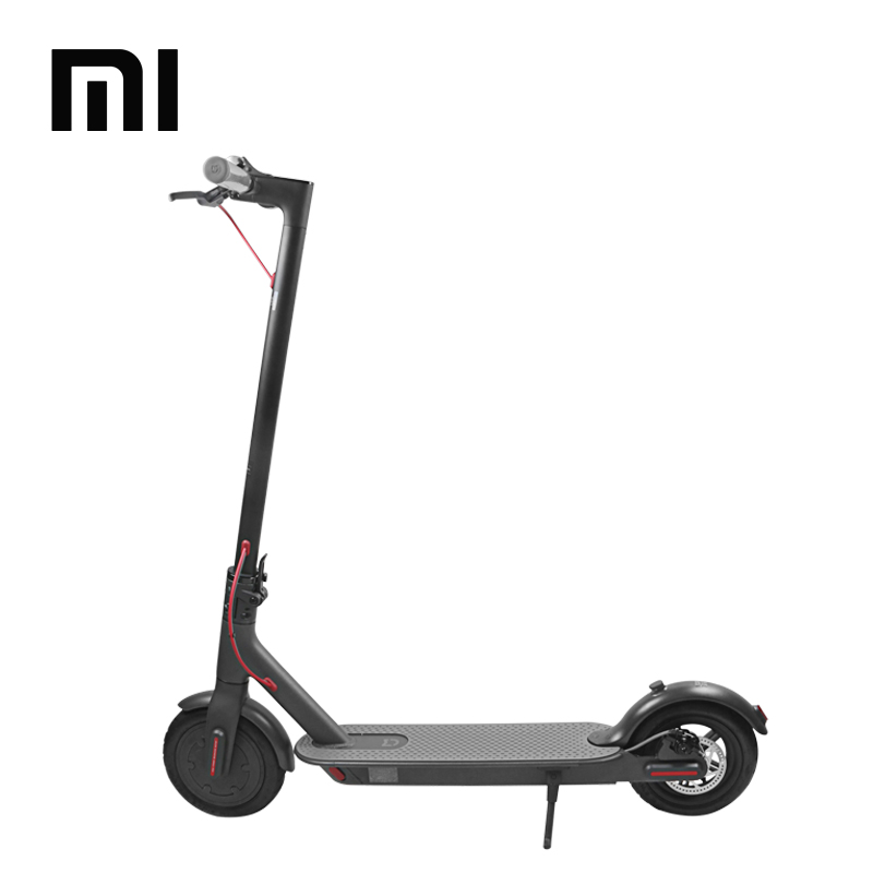 Chinese Version 100% Original Xiaomi Mijia M365 Portable Adult 8.5 Inch Electric Kick Bike Folding Scooter with Pedal, Black and white
