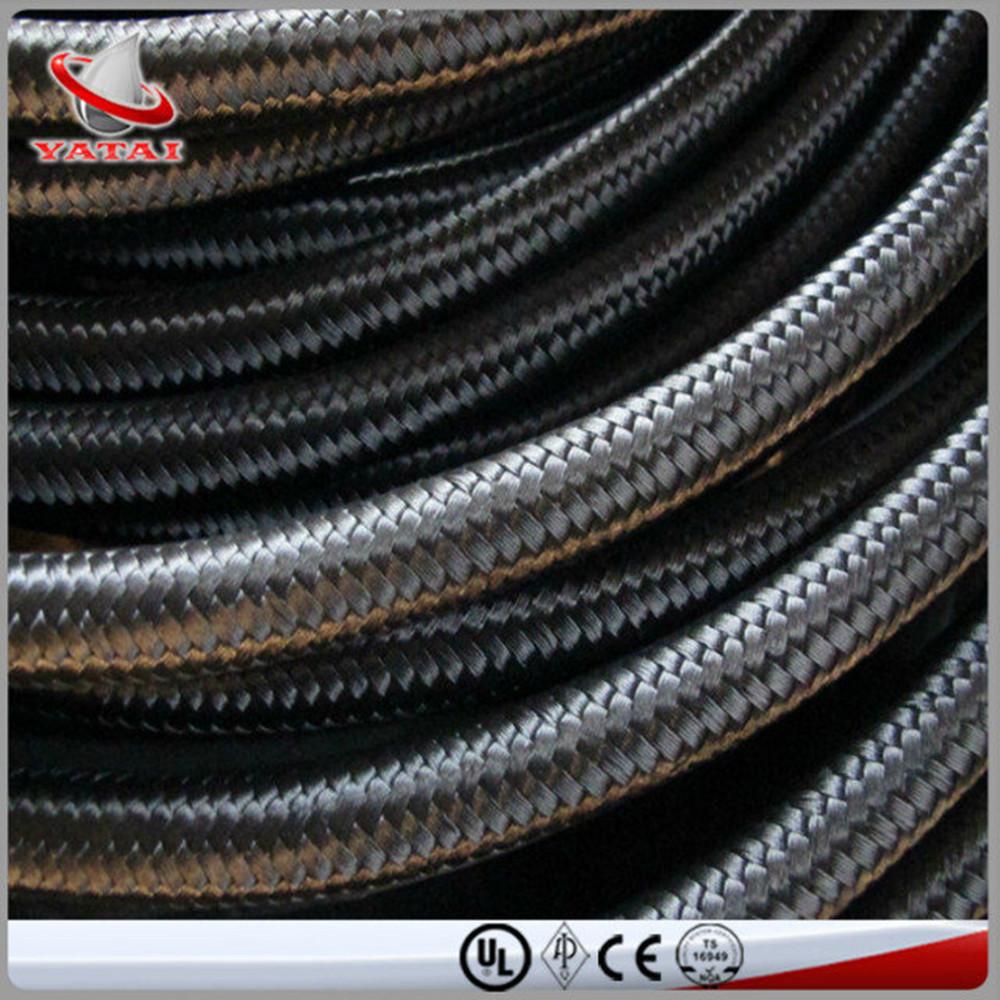 Black Color Cotton Braided Cover Flexible Hose External Braided Fuel ...