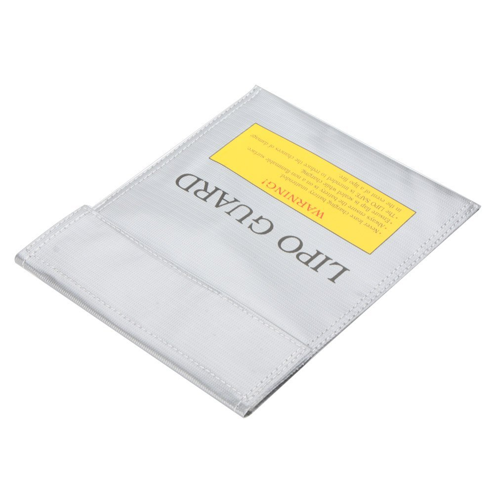 EverTrust(TM)High Quality RC LiPo Battery Safety Bag Safe Guard Charge Sack 22 * 18 cm Silver