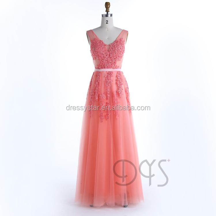 Venta al por mayor vestidos coral largos-Compre online los mejores ...