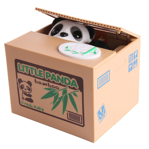 2018 Very Selling!!! 8807 Cartoon Automated Panda Cat Stealing Piggy Coin Bank Saving Money Box Coin Bank