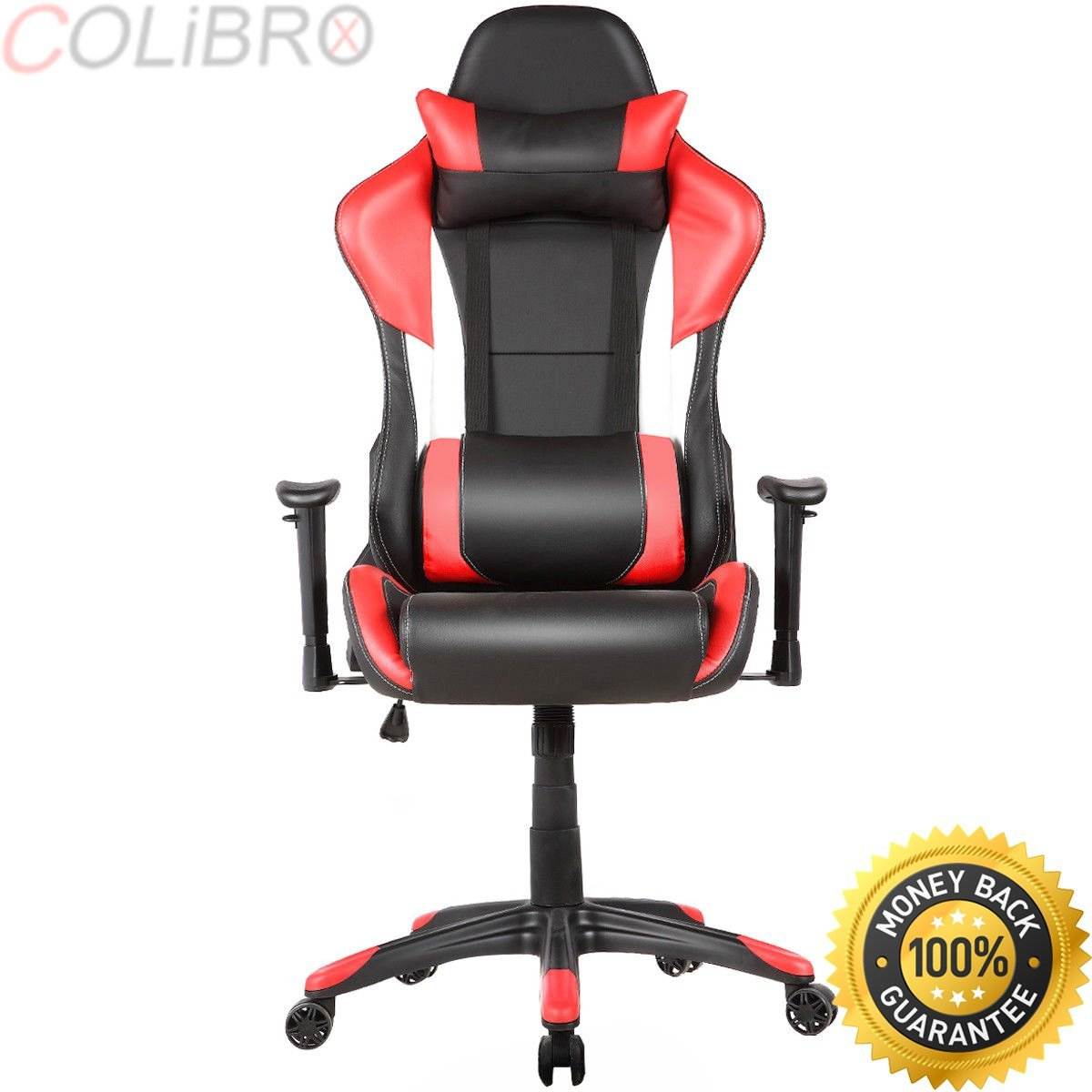 COLIBROX--Ergonomic High Back Racing Style Gaming Chair Recliner Executive Office Computer. gaming chair with footrest. executive racing style high back reclining chair gaming chair office computer.