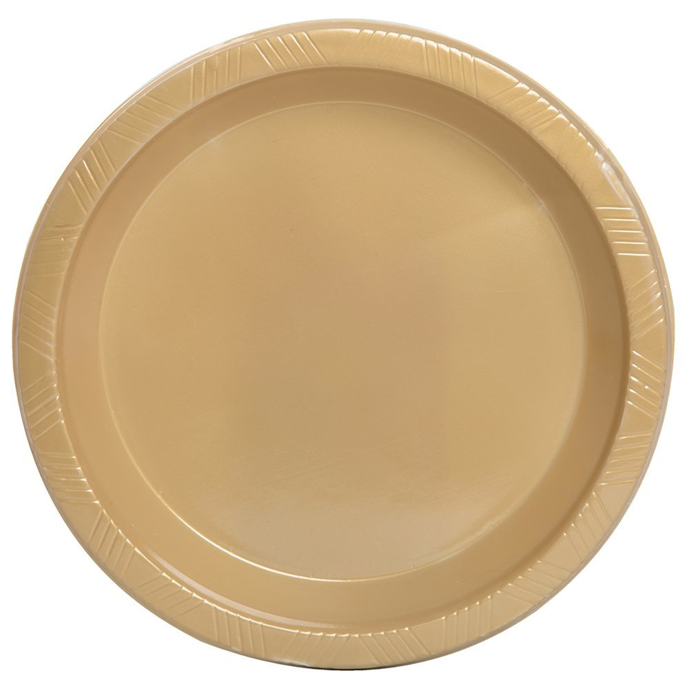 Get Quotations · Unique Industries 12 Count Plastic Dessert Plates Gold  sc 1 st  Alibaba & Cheap Gold Plastic Plates find Gold Plastic Plates deals on line at ...