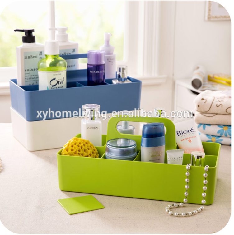 Office desk bathroom plastic storage box for small things with hanger