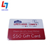 Factory direct plastic custom color printing gift card