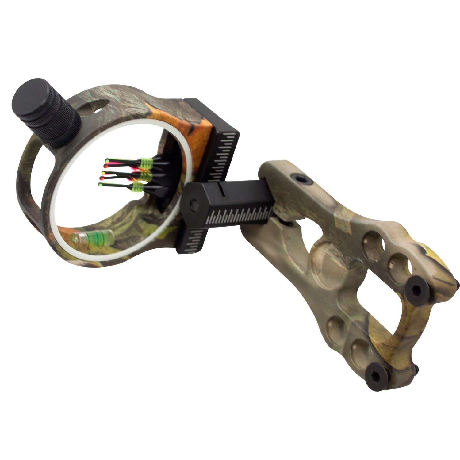 e5e10 3 Pin Brass Pin Aluminum Machined Left or Right Bow Sight Aluminum Compound Bow Sight 3 Pin Fiber Optics 0.029 Fiber Brass Pin