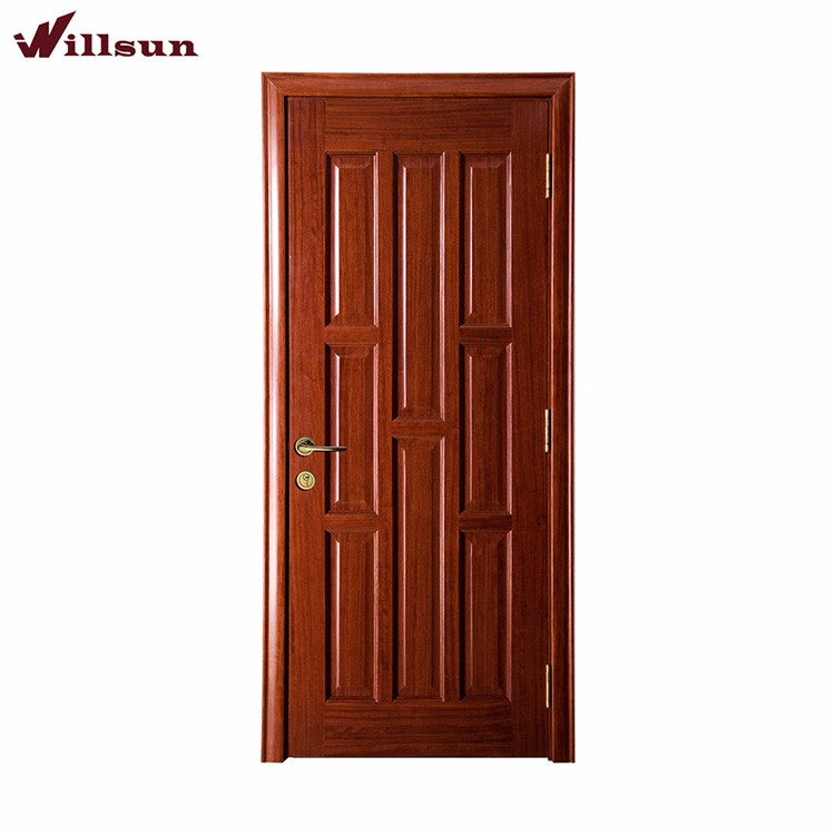 House Main Gate Design Solid Wood Mdf 8 Panels Single Door Model