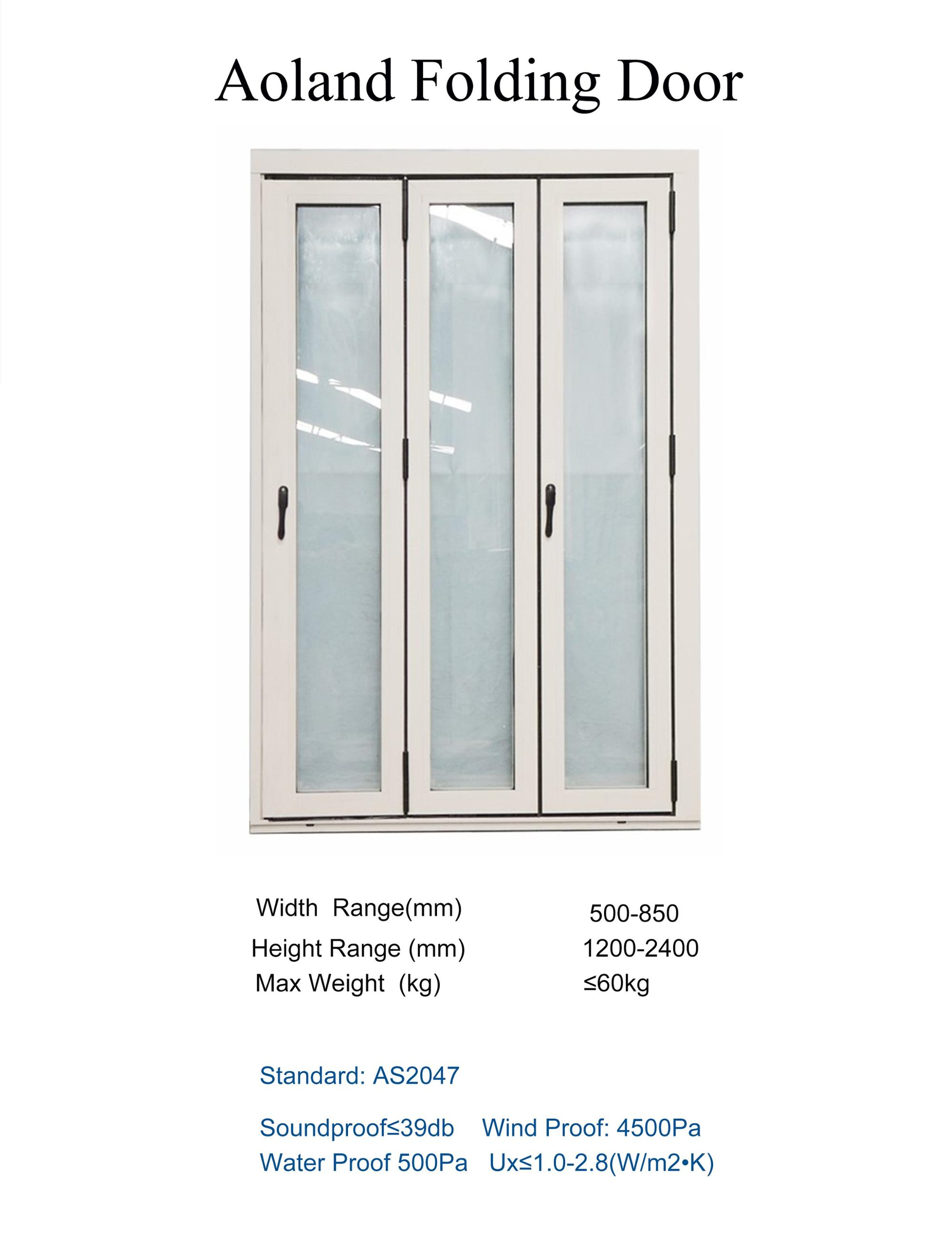Customize laminated glass bifold doors windows for bathroom