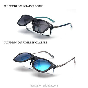 UV400 Polarized Clip On Sunglasses Fit Over Sun Glasses Flip Up Prescription Glasses Wear Over Eyewear Anti Glare With Box