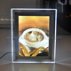 Tabletop display acrylic crystal slim led light box sign with poster