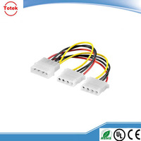 Custom assembled LP4 Y splitter power cable with high voltage